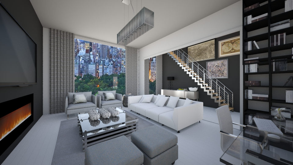 New York City Apartment - Modern - Living room - by Ana Mercedes