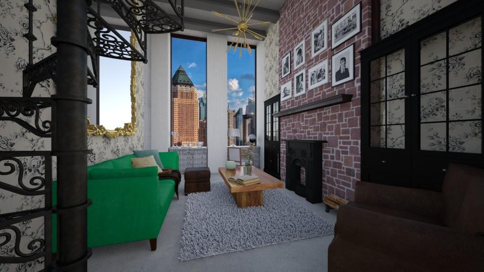 Concrete Living - Living room - by clairelist07