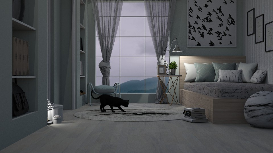 Cloudy room - Bedroom  - by Amorum X