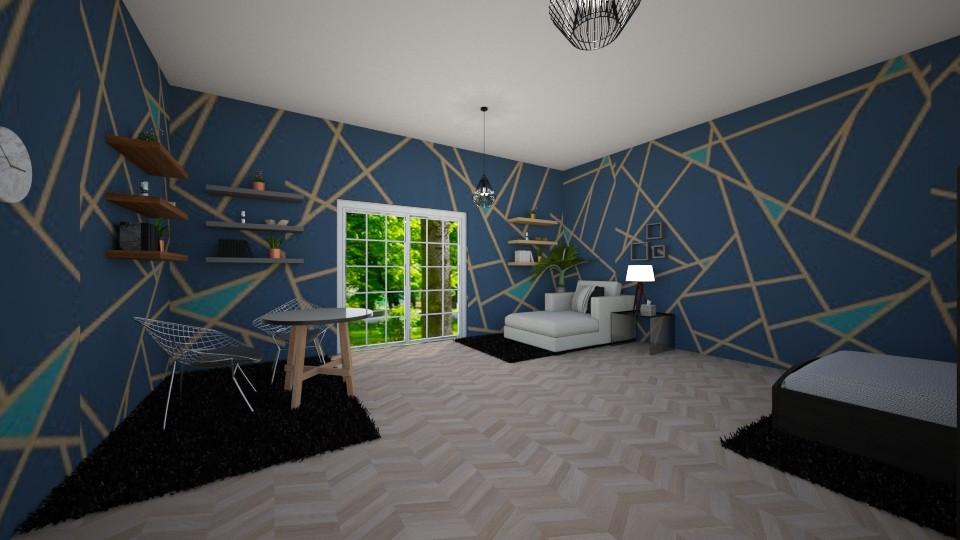 Geometric Bedroom - Minimal - Bedroom  - by Complete_Cookie