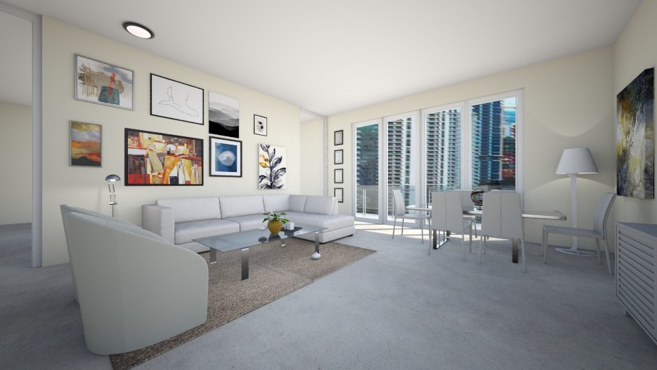 Carbonell Brickell Key 1 - Modern - Living room  - by Daisy de Arias