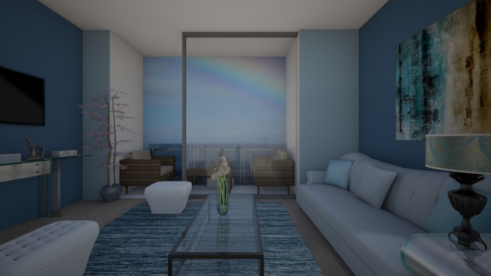 Shades of blue - Living room - by Ana Angela