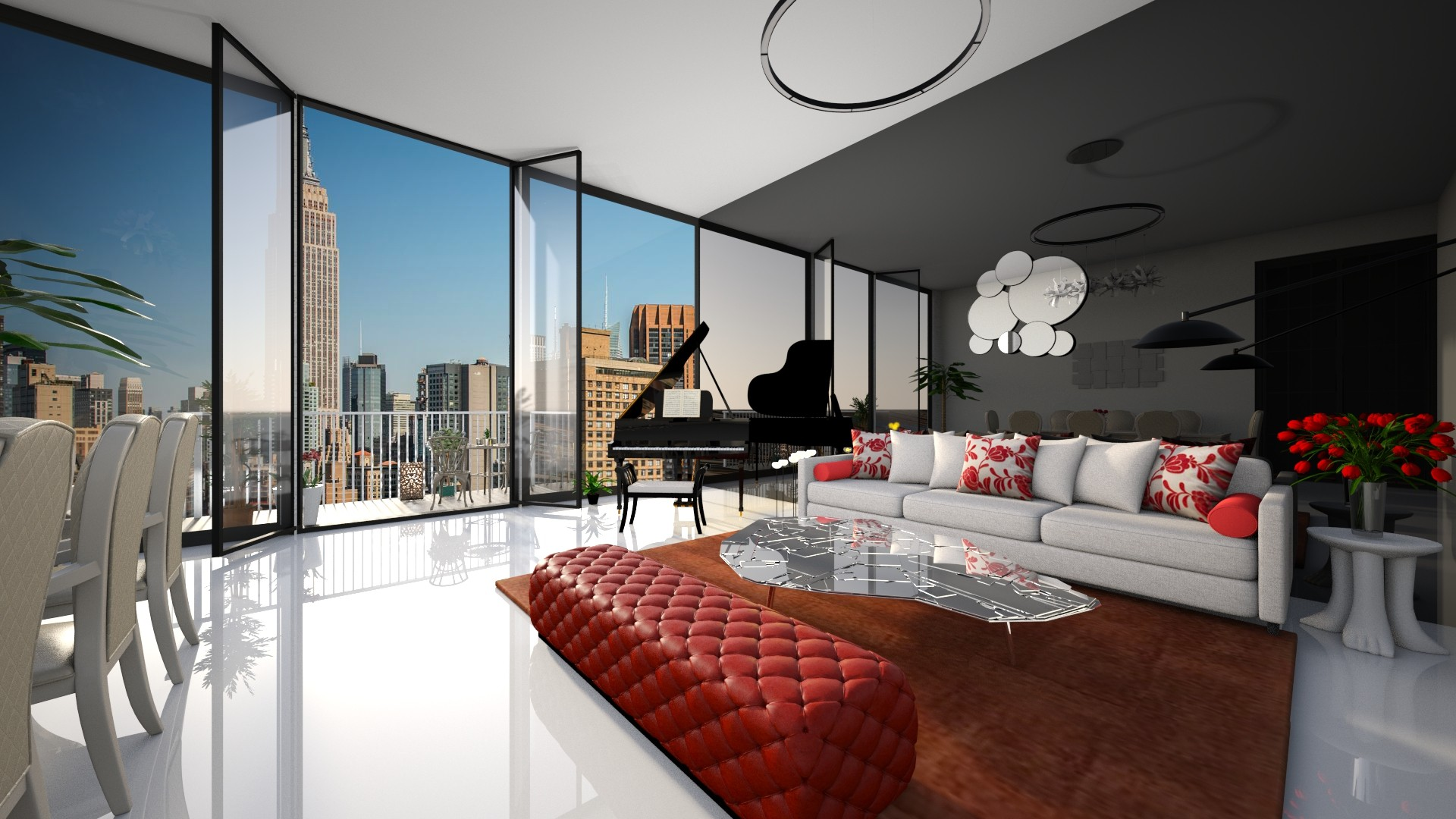 new york pent house - Living room - by harleenbhatia12