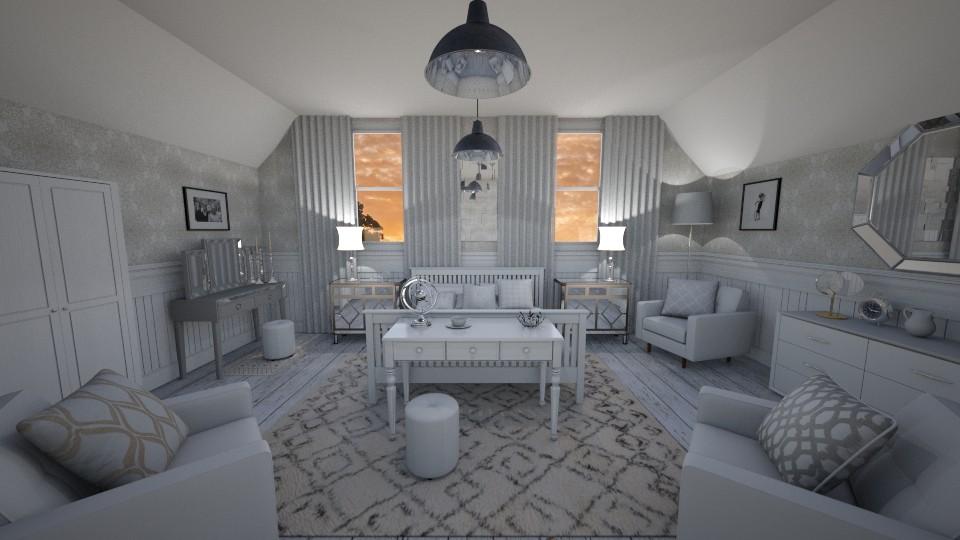 White Bedroom - Bedroom - by PenAndPaper
