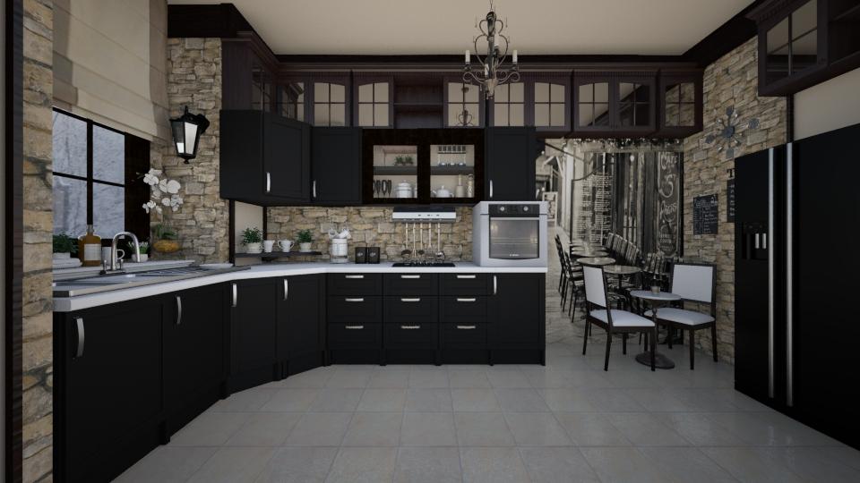 When Past meets Present - Kitchen  - by Violetta V