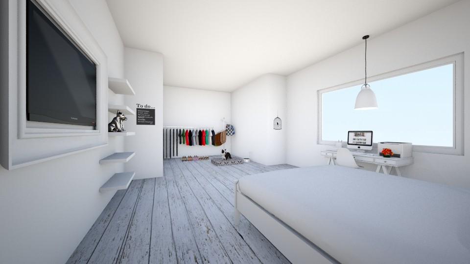 White Bedroom - Modern - Bedroom - by KKIsCrazyAF