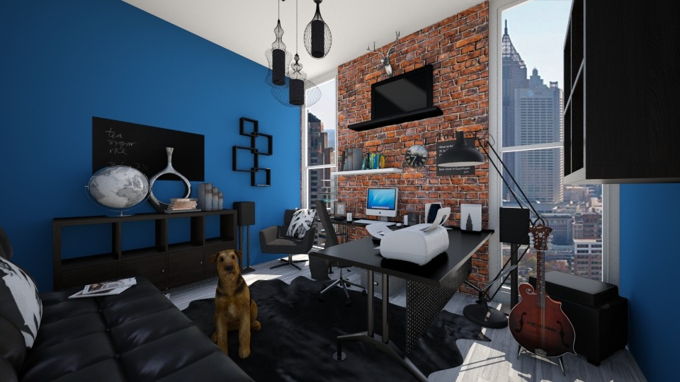 Brick Blue - Eclectic - Office - by CreativeCE