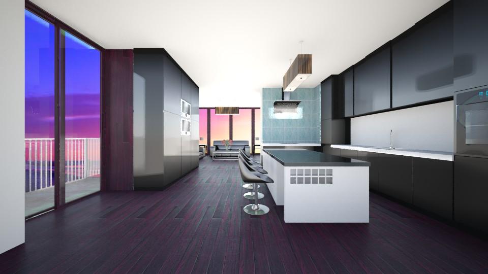 black kithen - Modern - Kitchen - by popov_hristijan