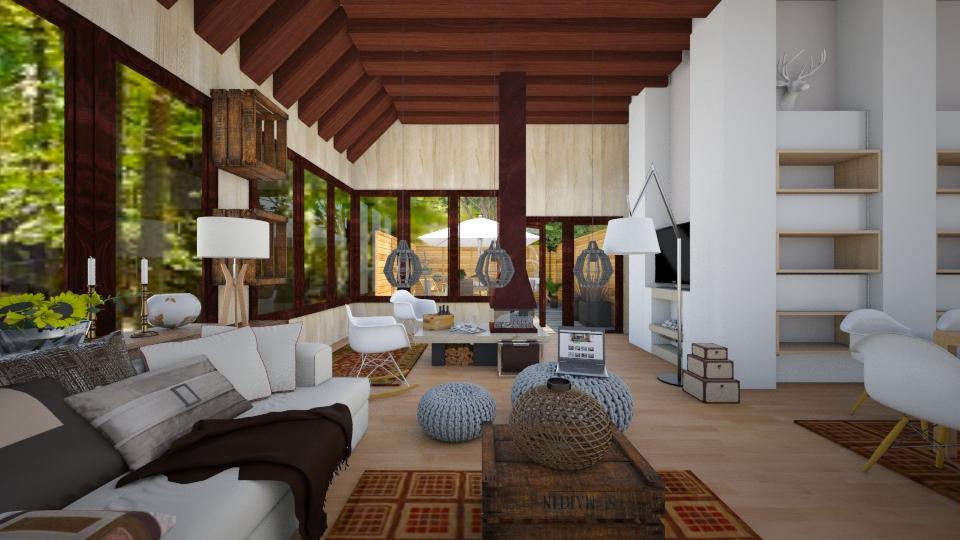 Wild Wood - Retro - Living room  - by christoforos