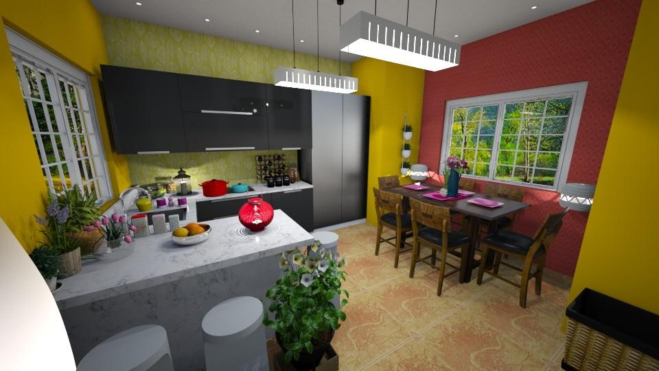 colorfull kitchen - by renowkas78