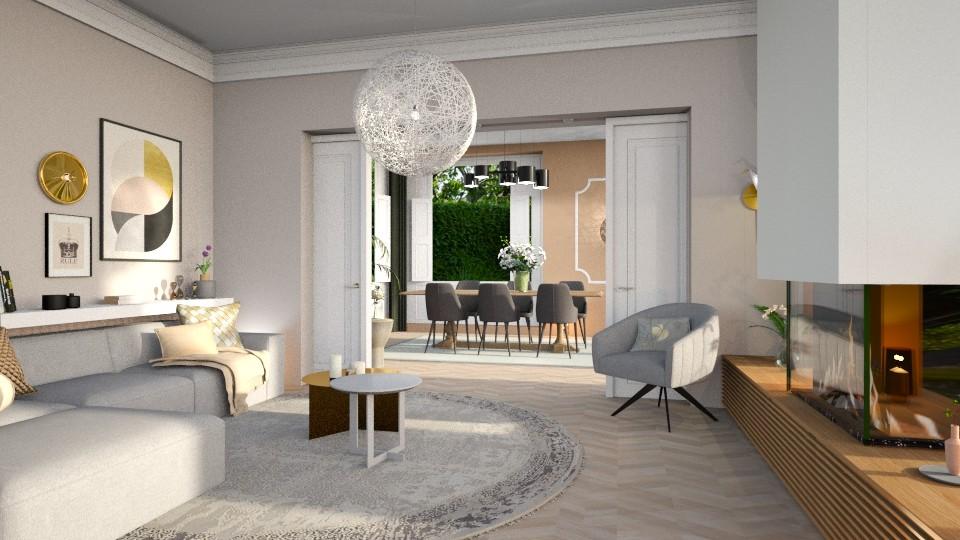 woonkamerpartddew - Living room  - by Gwenda van Maaren