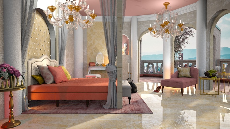 Fairy Tale - Feminine - Bedroom - by Mandine