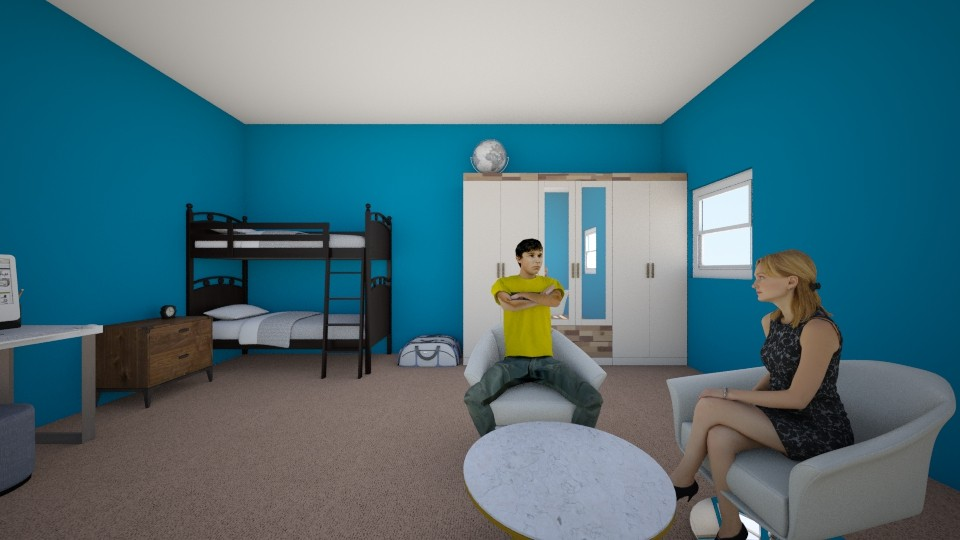 Blue Sky Bedroom  - Modern - Bedroom - by Elf_prettyballetgirl16