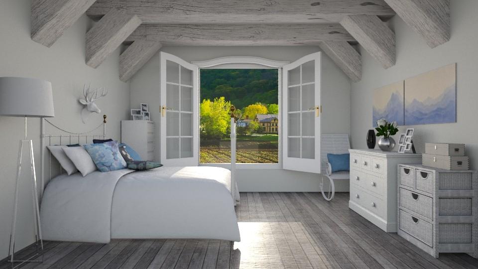 wood - Bedroom - by Magdalena ER
