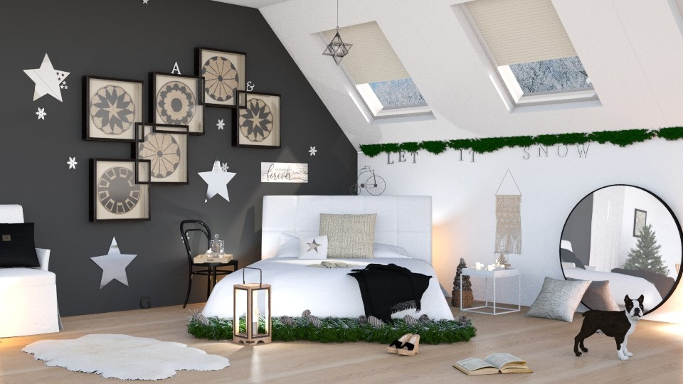 Winter Bedroom - Bedroom - by ArtHousedeco