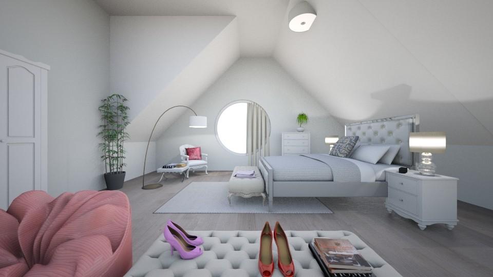 teen bedroom - Feminine - Bedroom - by hannahlaing