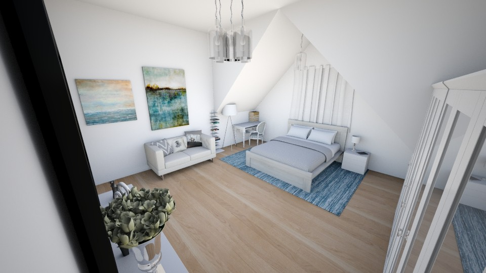 A bedroom in a attic - Modern - Bedroom - by AnaCatarina