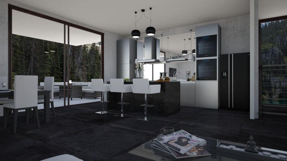 MID Kitchen - Modern - Kitchen - by Savina Ivanova