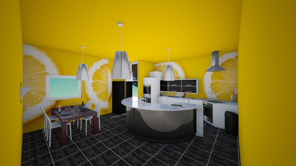 Yellow citrone - Kitchen - by Blanchette