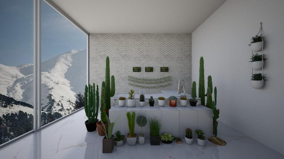 plant office - by KierraClumdesign