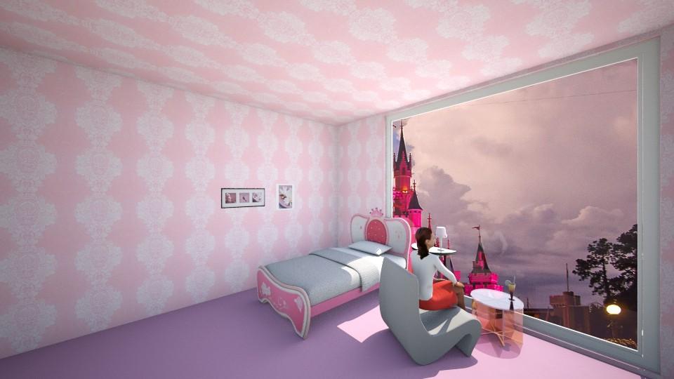 pink castle 12 - Bedroom - by babumullerova