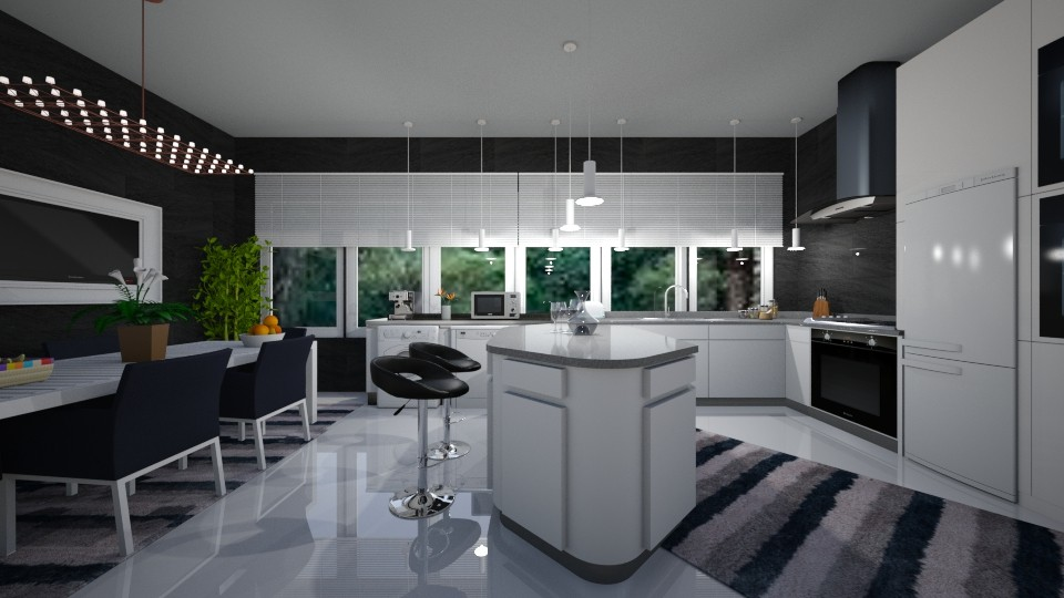 modern kitchen - by Tininha oliveira