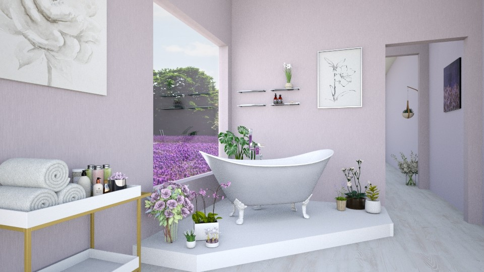 Lavender Bathroom - Modern - Bathroom  - by karisahsalim