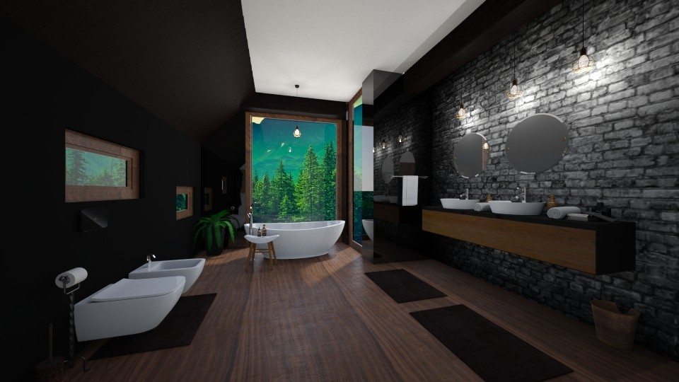 Attic Bathroom - Bathroom - by Tuubz