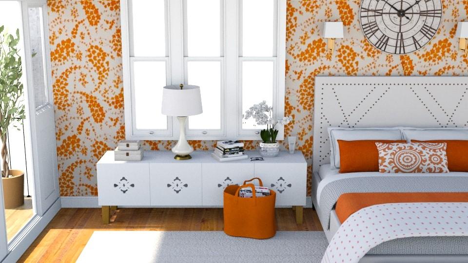 OrangeBedroom - by Isabella_Palmeri