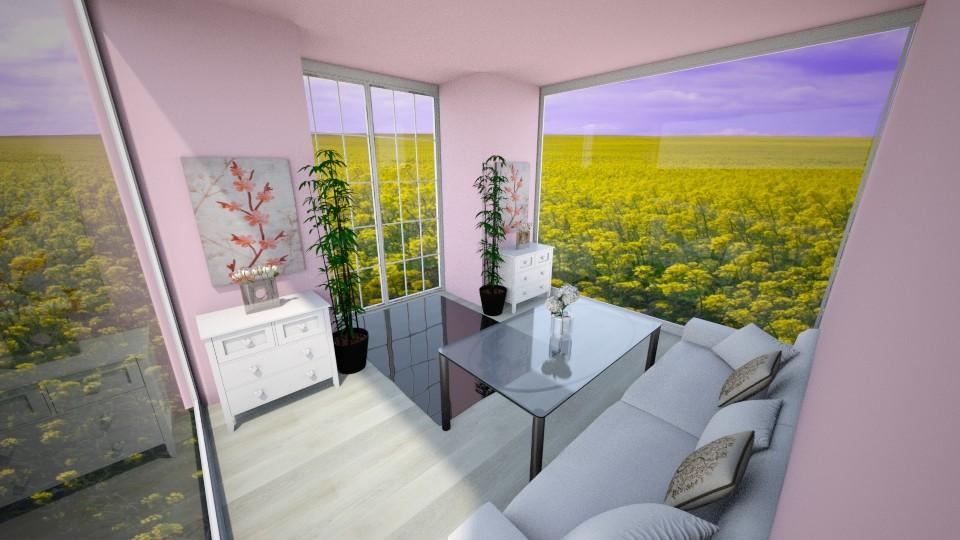 Pink room - Living room - by Ninorucska