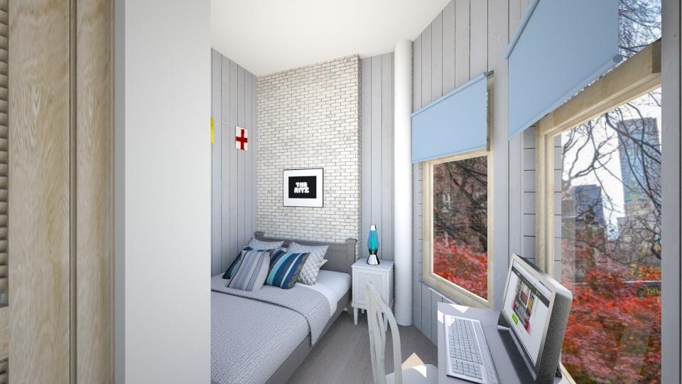 New York Boy Bedroom - Masculine - Bedroom - by mclaraop