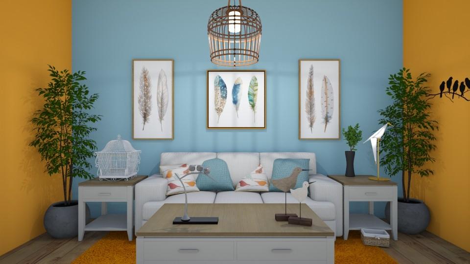 Birds of a Feather - Living room - by Lori Hallman Douglas_763