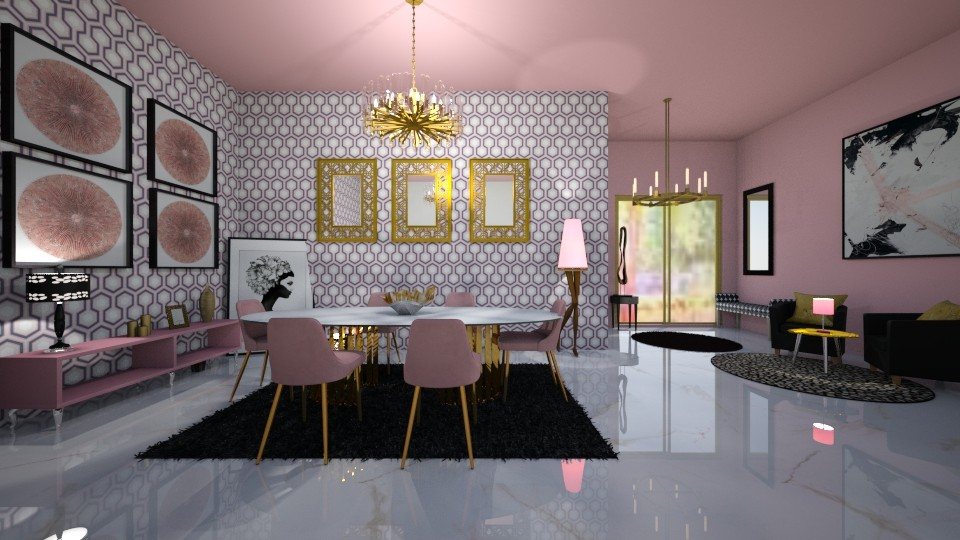 PINK PERSUASION - Modern - Dining room  - by RS Designs