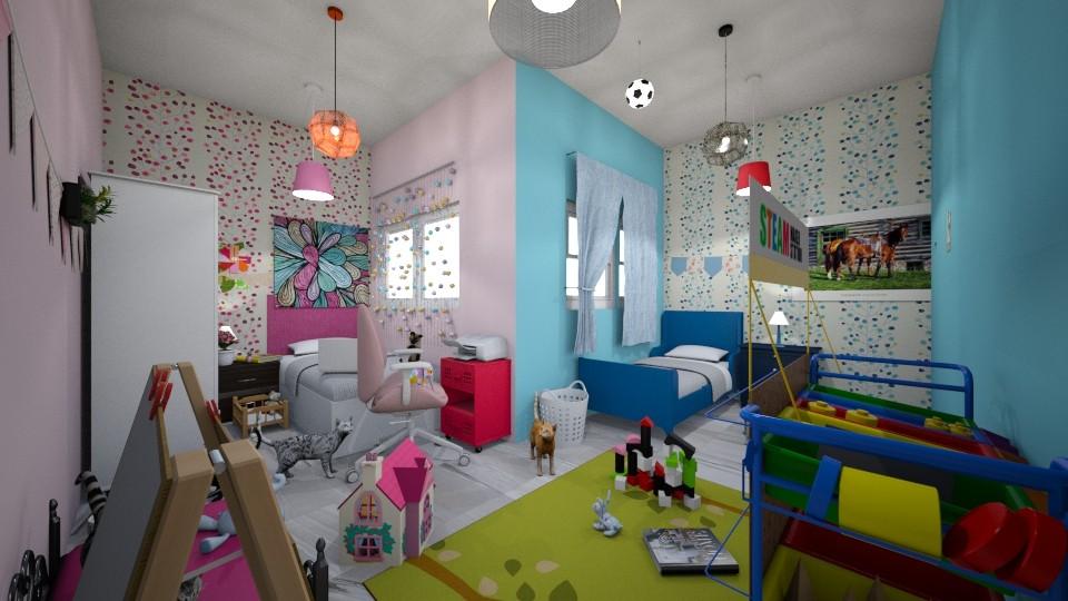Flowers of the sea - Kids room - by hala011