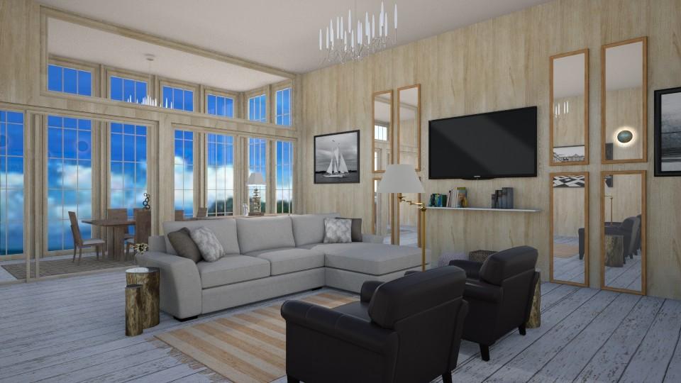 Beach House Living Room2 - Living room - by abbyt94