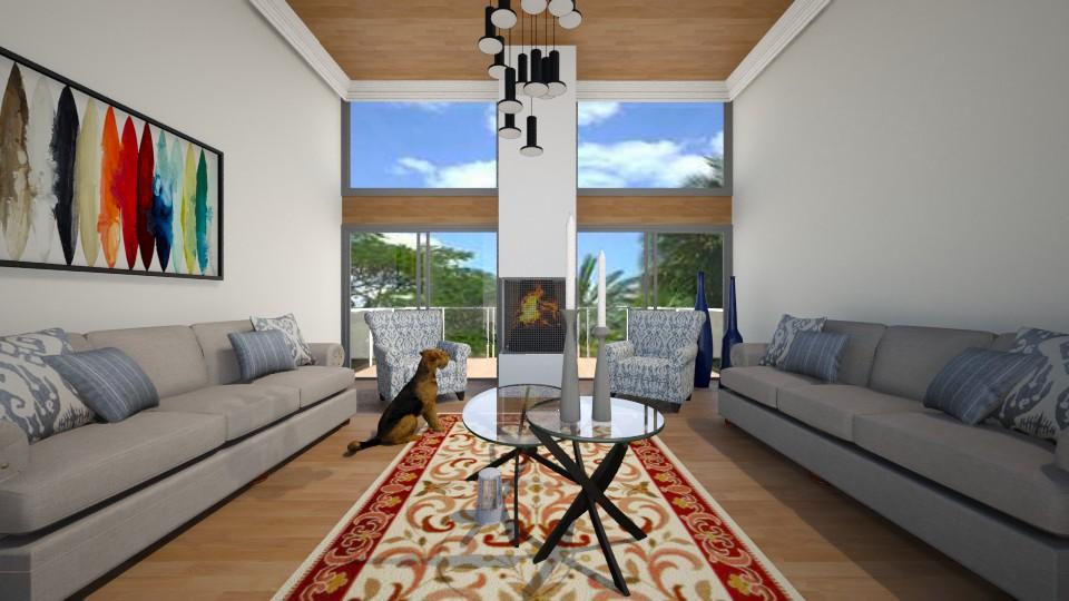 wood room  - Modern - Living room - by ostwany_aboud