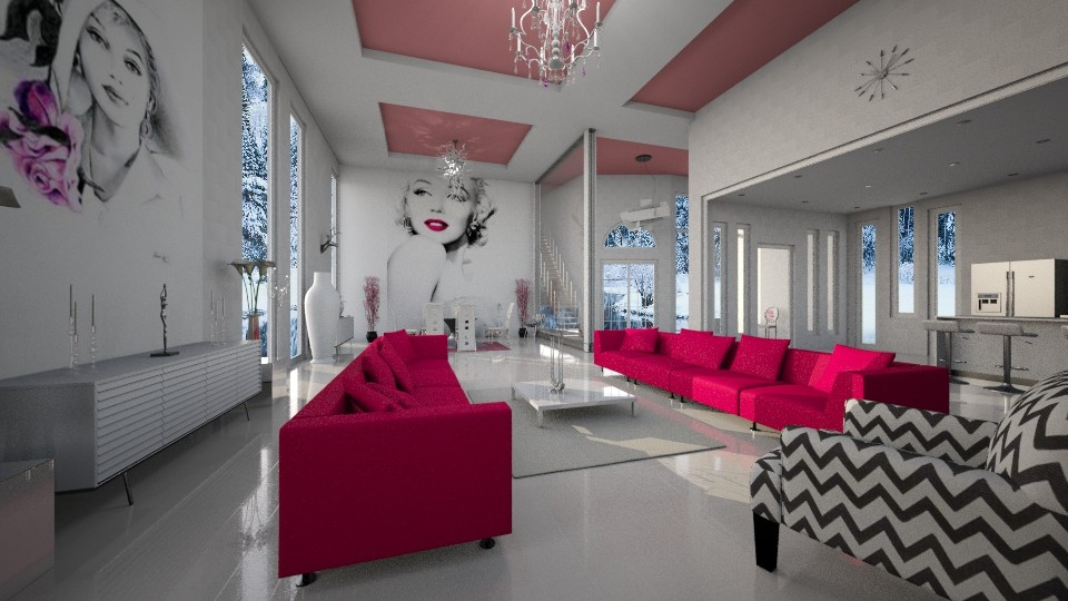Monroe Home - Living room - by Rose Hdz