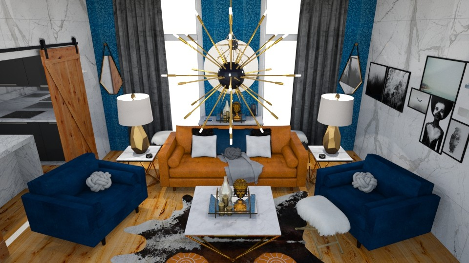 blue and brown - Living room  - by ccassidyyevvanns
