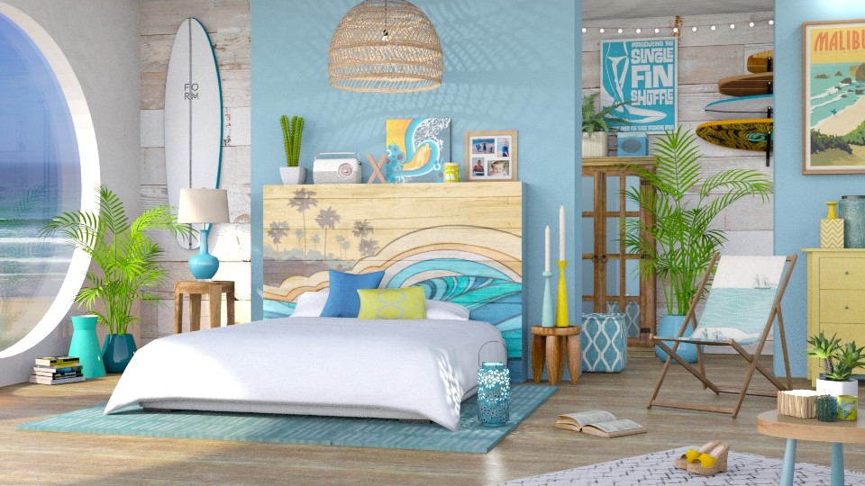 Surf Bedroom - Bedroom - by LB1981
