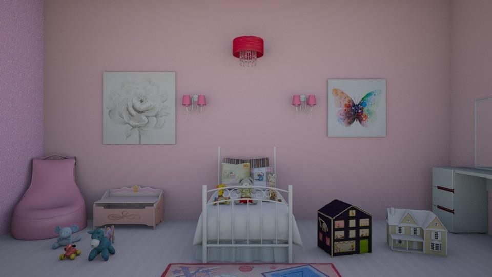 Pink Kid Room - Feminine - Kids room - by rileyemily
