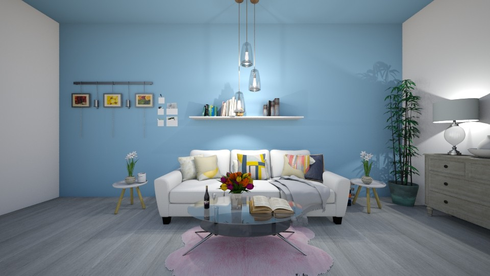 Calm Colors - Living room - by YearOfTheDog