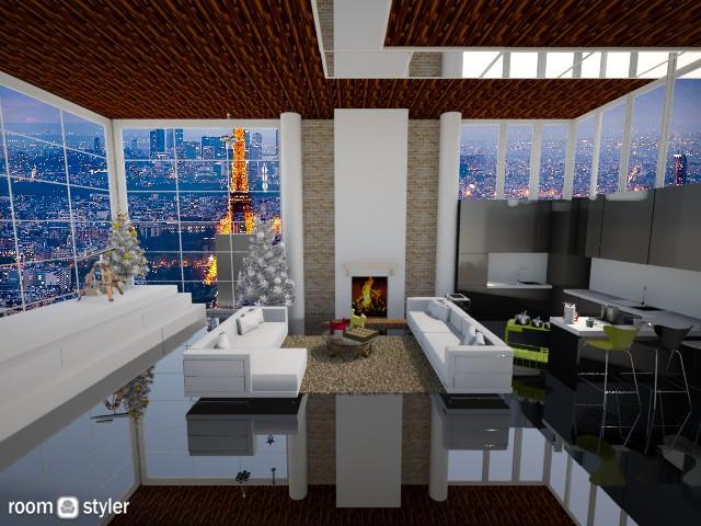 Kitchen 1 - Living room - by Habib Altamimi