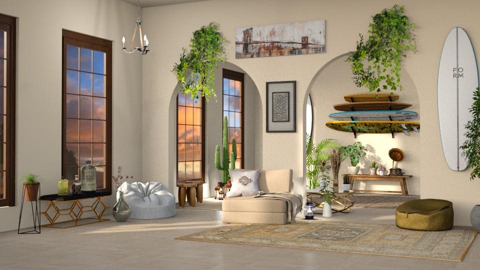 Surf vibe - Living room - by LunaBradley