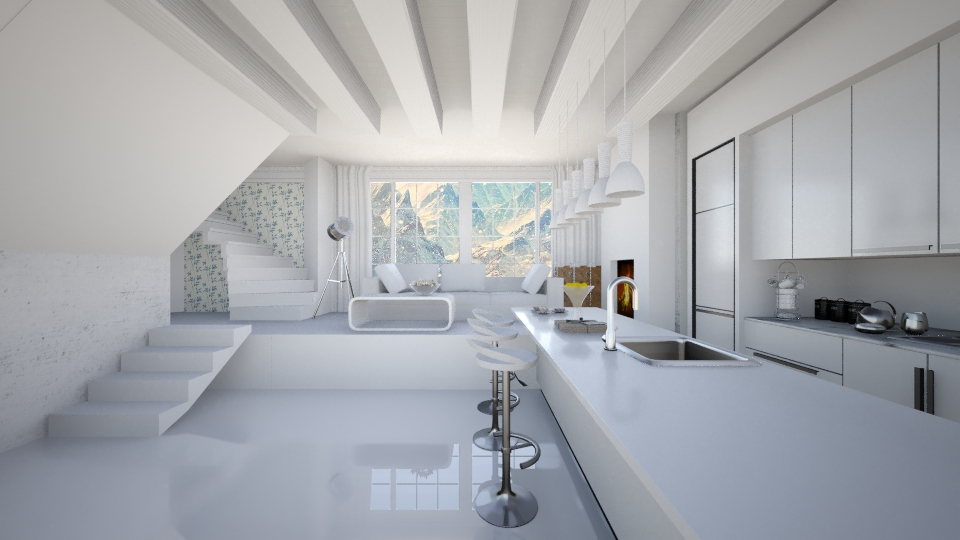 all white - Living room  - by GosiaT