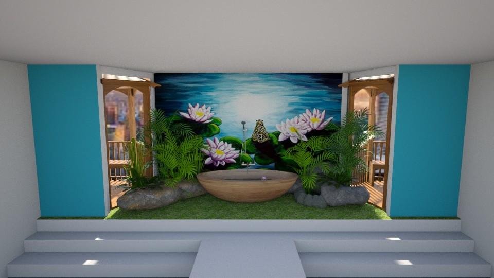 Bathing in a Moonlit Pond - Bathroom  - by mydreamjob25