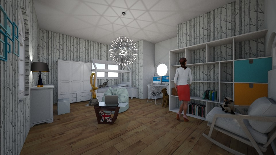 Modern Bedroom - Modern - by Flamingprincess