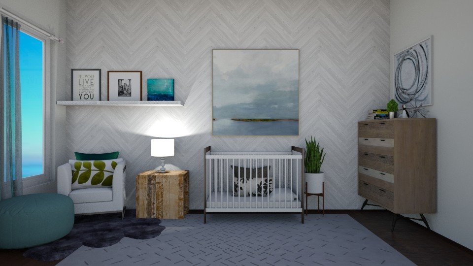 Baby got the blues - Kids room - by thomanjenna