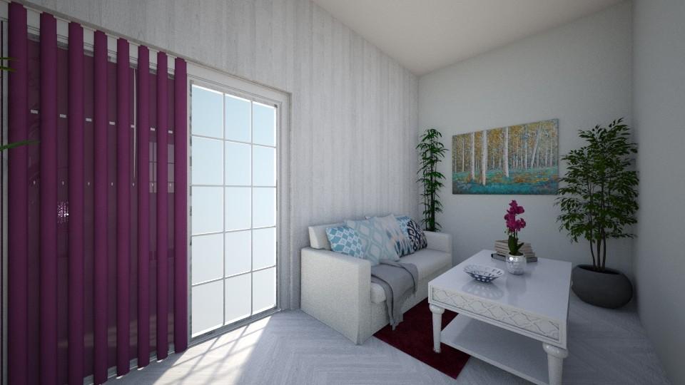 Styl prowansalski - Living room - by Aleksandra Bodlak