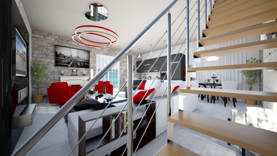 parter rosu 9 - Living room - by TMMagda