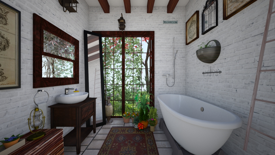 Bathroom Retreat - Bathroom  - by Jodie Scalf